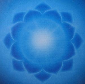 Throat Chakra - 16 Petals, brilliant blue, Key secret - power of words